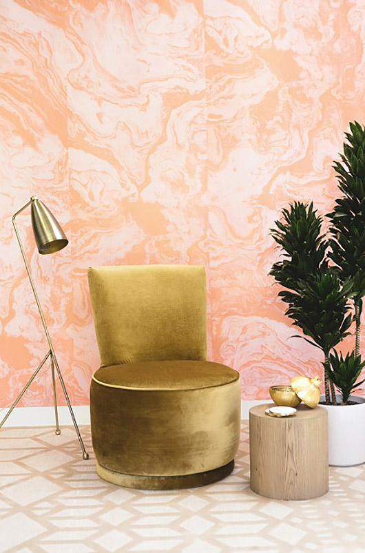 pink agate wallpaper from sarah sherman samuel's new collection. / sfgirlbybay