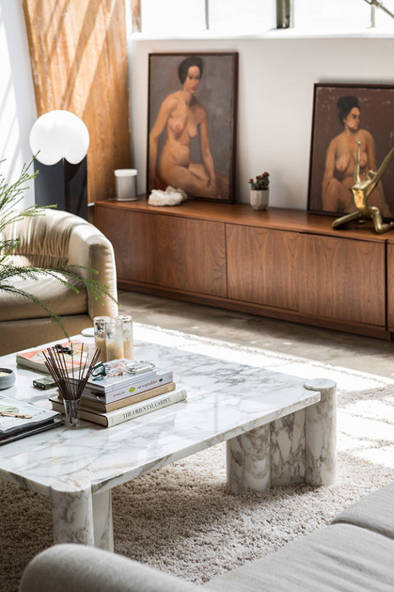 eclectic vintage furniture and decor in interior designer sally breer's home. / sfgirlbybay