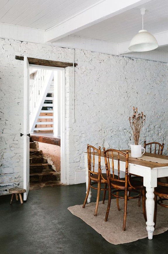 rustic dining room featured in country style magazine. / sfgirlbybay