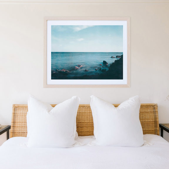 framed photograph of the ocean via limited by Saatchi Art. / sfgirlbybay