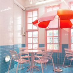 Pink High Chairs Stability Ball Chair Base Wear This There: Pool Café. | Sfgirlbybay