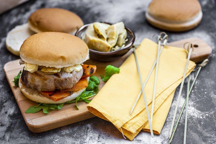 burger con medaglioni di vitello