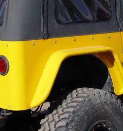 jeep cj fender flares w corner guards 3 6 inch flare 72 86 cj7 tnt customs [ 2133 x 1600 Pixel ]