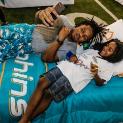 Swing Chair Homestore Ice Cream Parlor Ashley And Dolphins Give Gift Of Comfortable