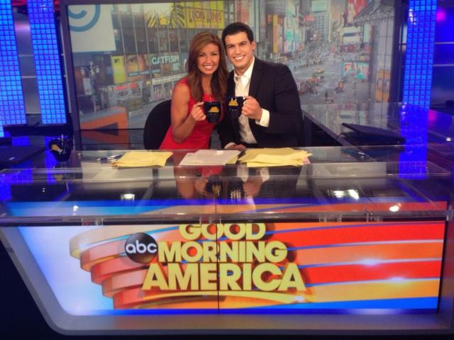 Julie Durda and Gio Benitez at Good Morning America