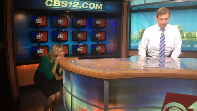 Suzanne Boyd and Eric Roby, WPEC CBS 12 News Anchors