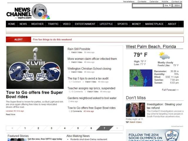 WPTV.com Previous Design