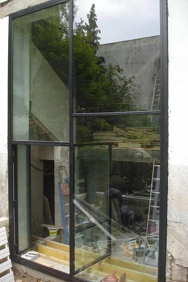 Pose de baies vitrées double hauteur SFMP 78