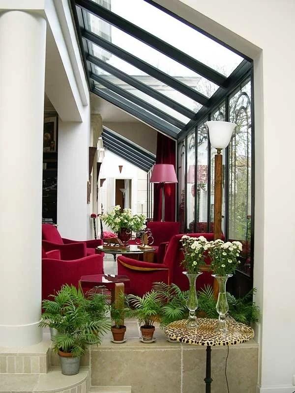 extension de salon avec véranda, verrières