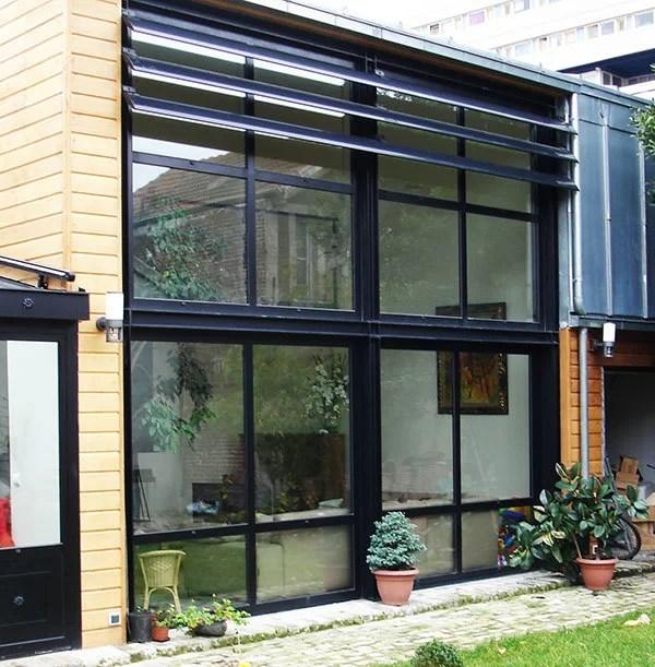 Pose fenêtre baie vitrée double hauteur SFMP 78