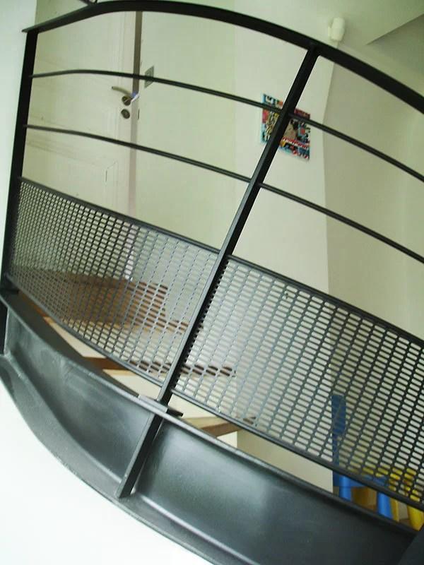 Garde-Corps acier et escalier tournant sur mesure