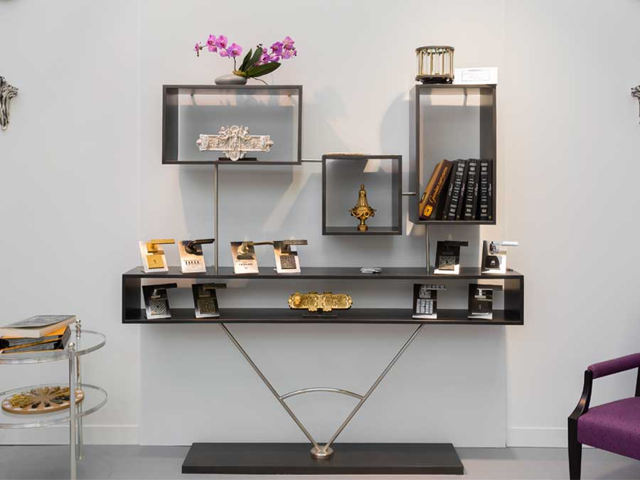 fabrication présentoir meuble en métal sur mesure 78
