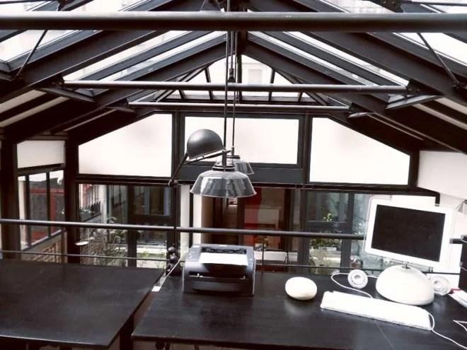 Charpente métallique et aménagement style loft industriel paris