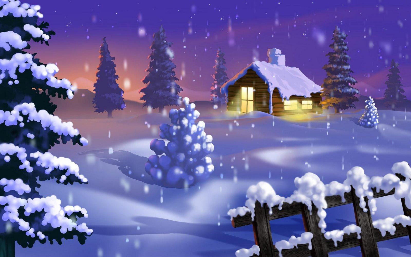 Sfondi desktop HD Natale  paesaggio nella neve  sfondi