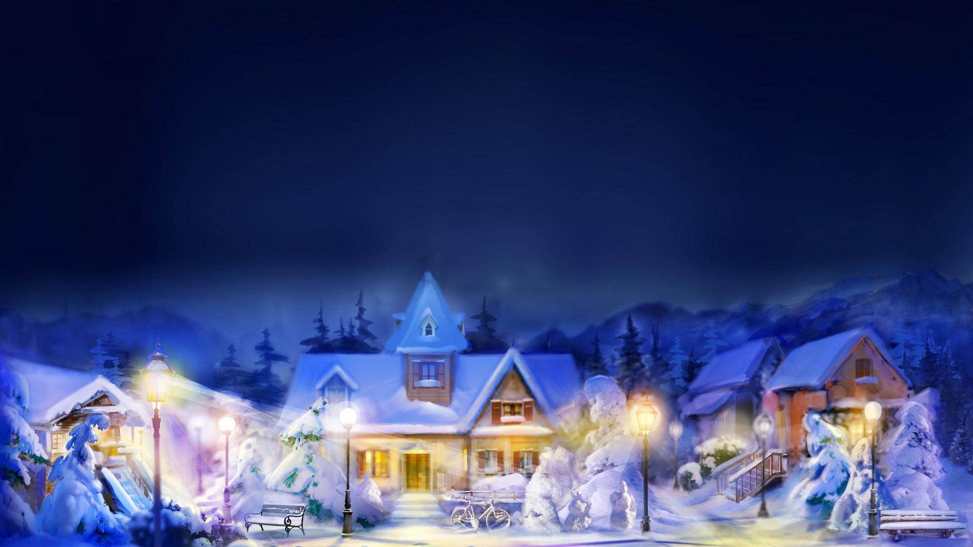 Sfondi Natale  Sfondo Natale Paesaggio