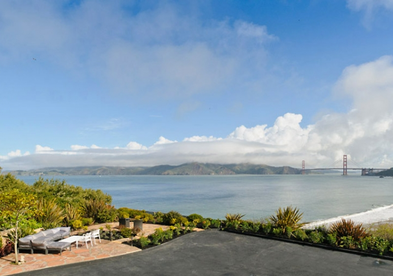 the living room with sky bar design 2016 496 sea cliff | san francisco properties : luxury homes ...