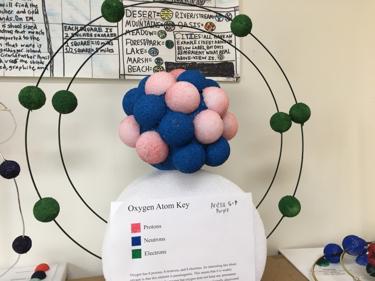 hight resolution of middle school students create models of cells and atoms san francisco school