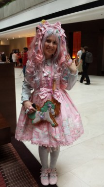 Dressed head to toe in Sweet Lolita fashion!