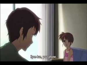 """Each episode started with """"Kyon-kun, your phone.""""  The phrase can still induce flashbacks in traumatized survivors."""