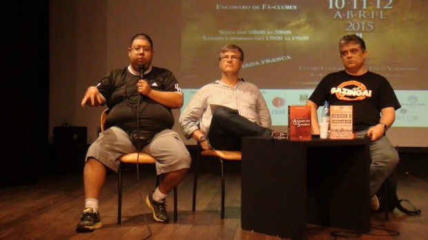 Eduardo Kasse, Gérson Lodi-Ribeiro and Flávio Medeiros Jr. in the panel about Alternate History.