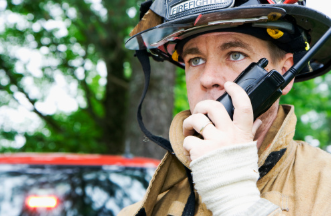 firefighter communicate