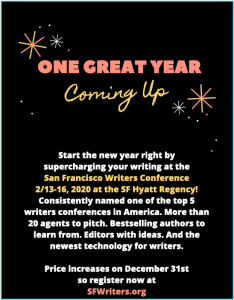 Happy New Year! Treat yourself to the San Francisco Writers Conference 2020