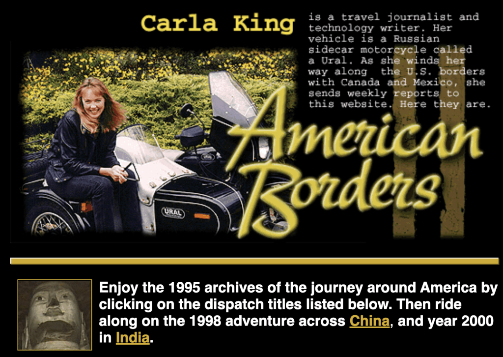 Carla King's American Borders Dispatches