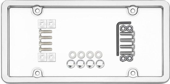 Cruiser 62310: Chrome License Plate Frame With Shield