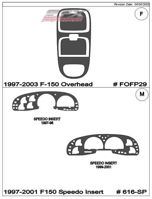 Superior Dash 616-SP-97: Optional Speedometer Insert Trim