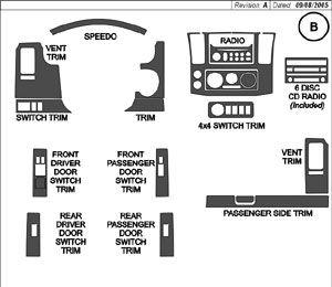 Superior Dash NIB063-WD: 2005 Nissan Frontier Wood Grain