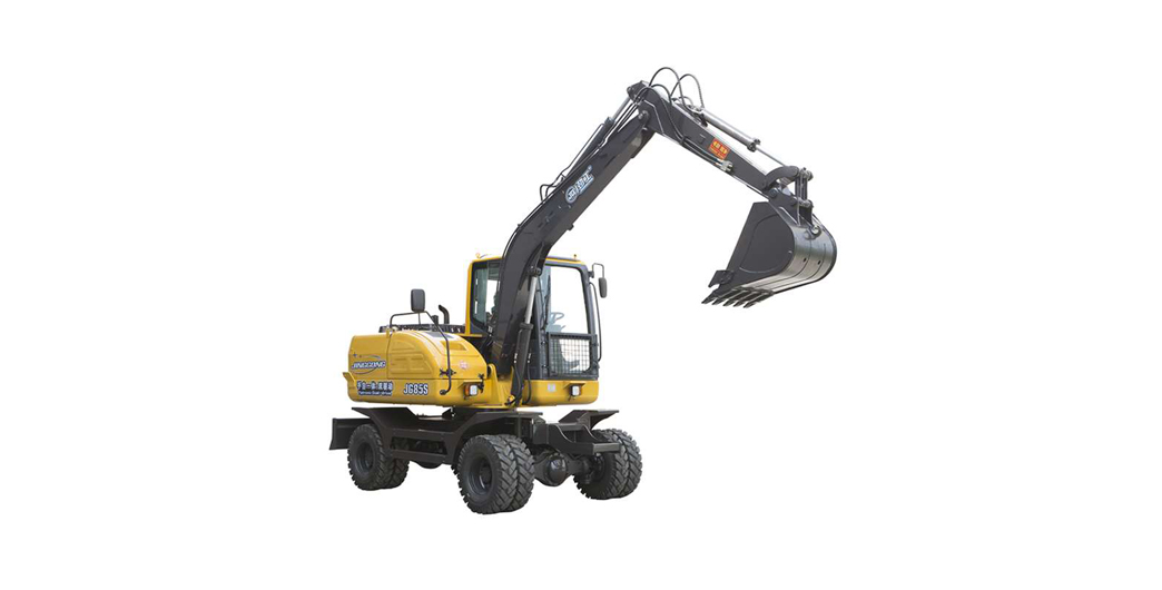 7 ton hydraulic wheel excavator with combination of manual