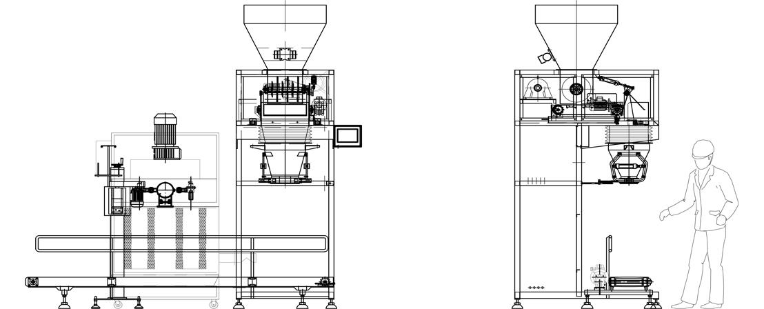 Semi-automatic Bagging Machine (Metering, Filling, Manual