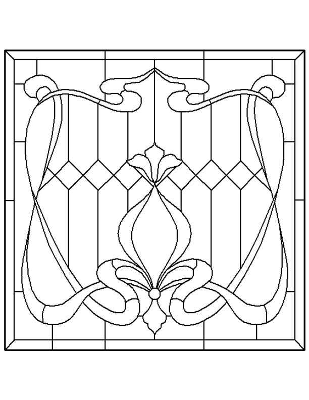 Stained Glass Patterns for FREE ★ glass pattern 172 ★