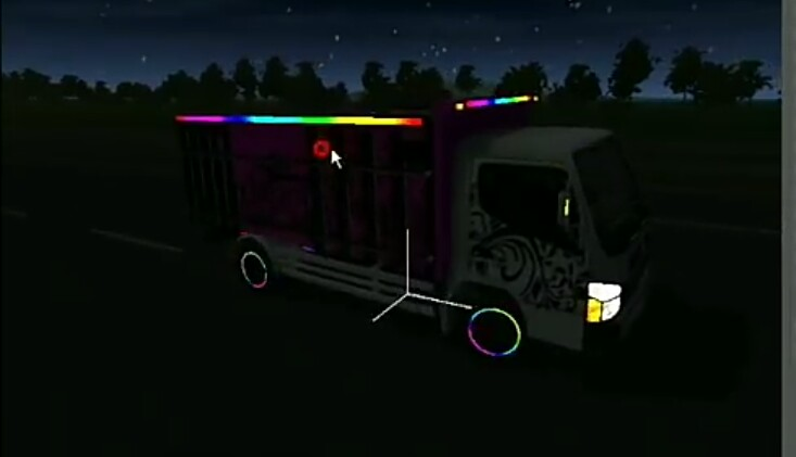 Truck Mod with Electric LED Light for BUSSID