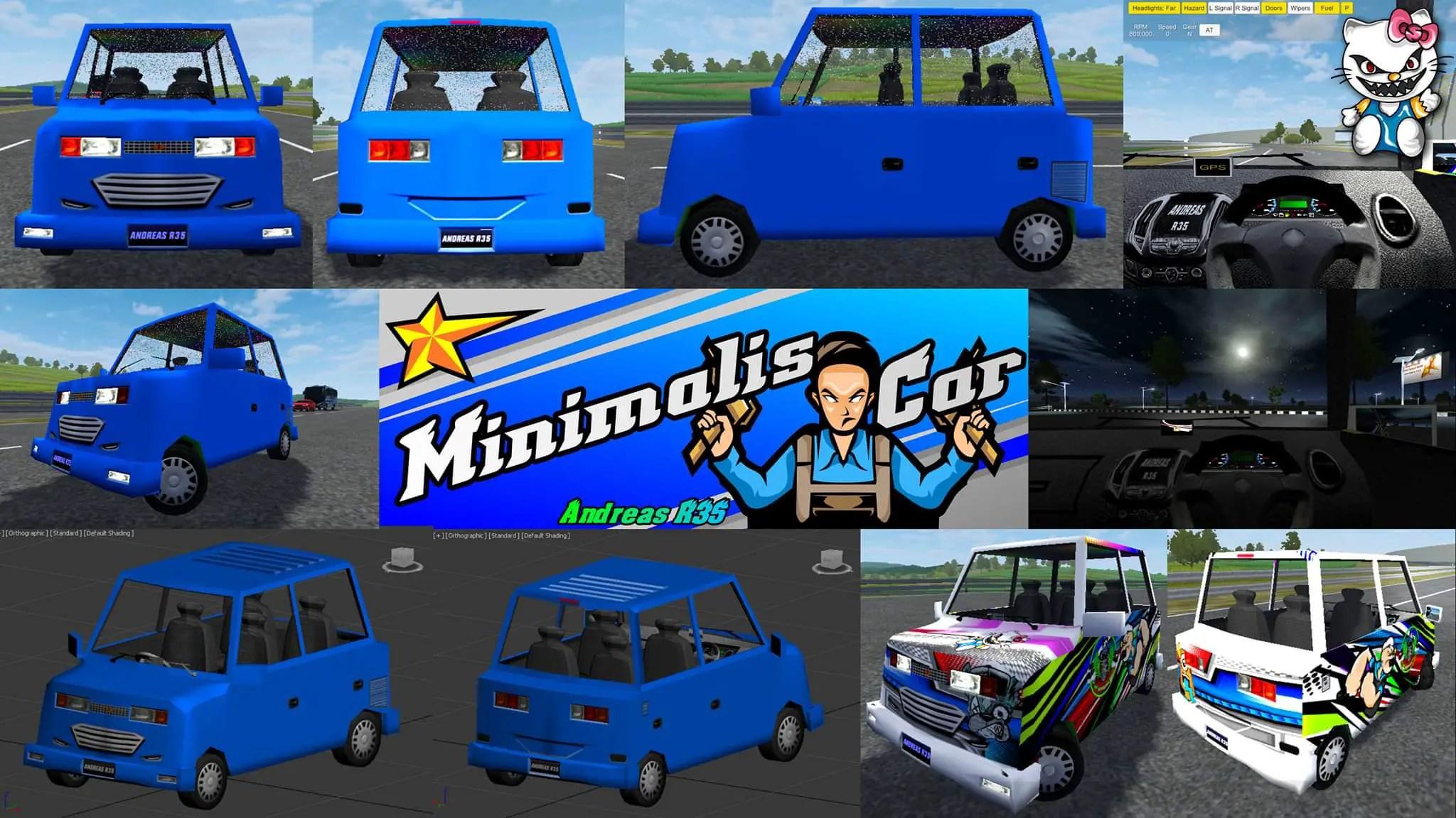 Download Minimalis Car Mod for Bus Simulator Indonesia, , Bus Mod, Bus Simulator Indonesia Mod, BUSSID mod, Car Mod, SGCArena, Vehicle Mod