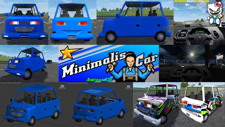 Minimalis Car Mod for Bus Simulator Indonesia