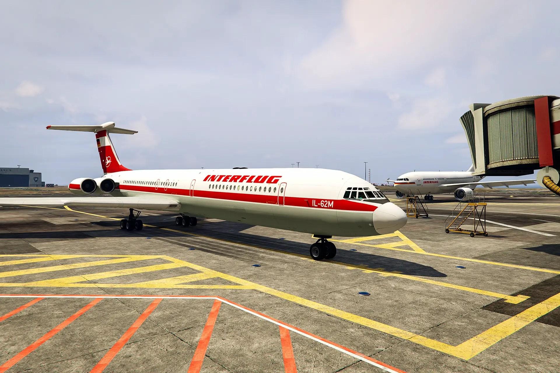 Download Interflug Ilyushin IL-62M Mod for GTA V, GTA V Mod, Gaming News, Gaming Update, gta Mods, gta V, gta V Mods, Mod, SGCArena