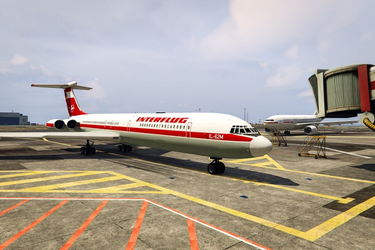Interflug Ilyushin IL-62M Mod for GTA V