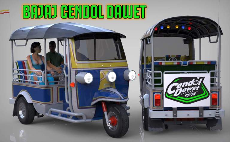 BAJAJ CENDOL DAWET Mod for Bus Simulator Indonesia