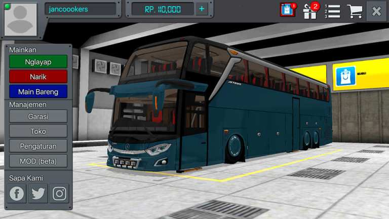 Update UHD V3 Bus Mod for Bus Simulator Indonesia