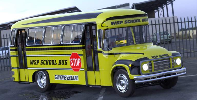 WSP School Bus Mod for Bus Simulator Indonesia