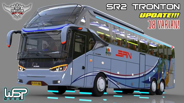 UPDATE SR2 TRONTON Bus Mod for Bus Simulator Indonesia