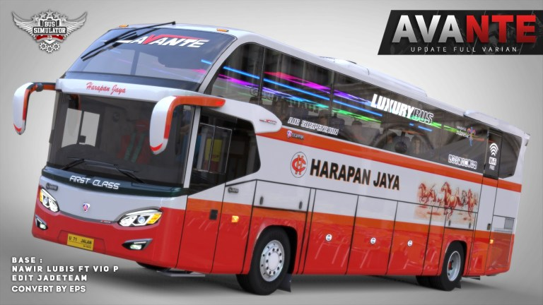 Avante Update Bus Mod for Bus Simulator Indonesia