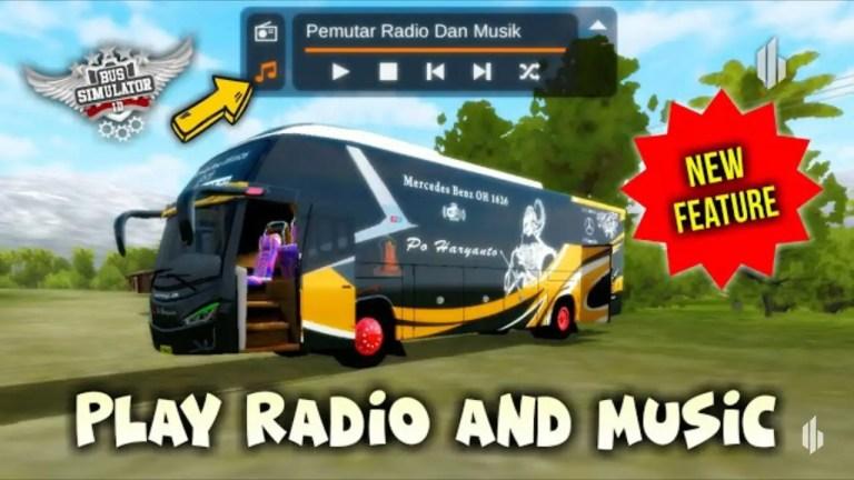 Online Radio & Music System in BUSSID V3.1
