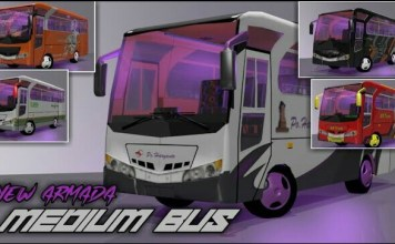 Armada Medium Bus Mod, Medium Bus Mod, Medium Bus Mod for BUSSID,