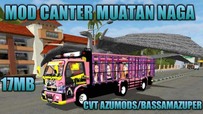 Canter Tronton Dragon Load, Canter Tronton Dragon Load Mod for BUSSID,