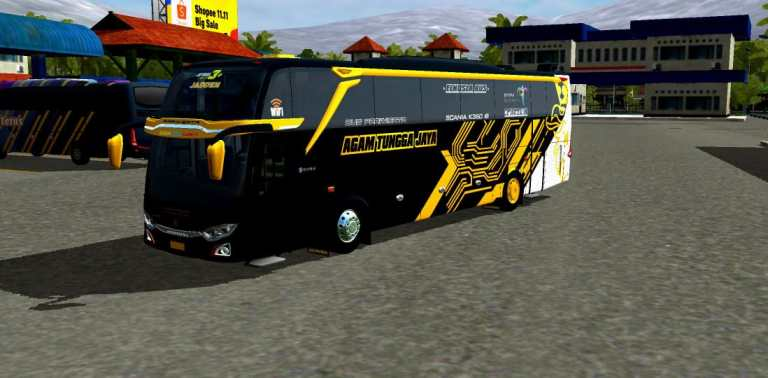 JETBUS3+ FACELIFT SCANIA K360 Mod for Bus Simulator Indonesia