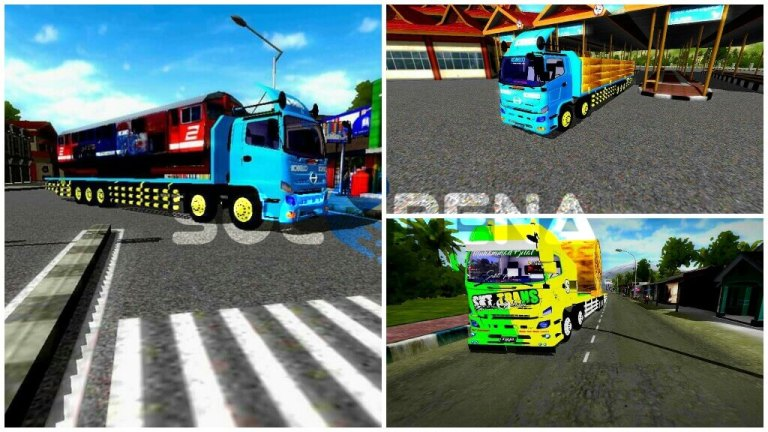 Hino Tribal 3 Truck Variant Mod for Bus Simulator Indonesia
