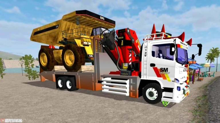 Hino 500NG Self Loader Mod for Bus Simulator Indonesia