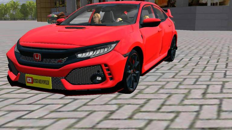 Honda Civic Type R Car Mod for Bus Simulator Indonesia
